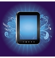 concept with tablet pc with empty screen vector image