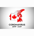 coronavirus in canada and country flag inside vector image vector image