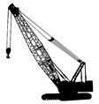 crawler crane vector image vector image