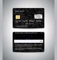 credit cards set with military background vector image vector image