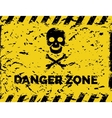 Danger zone grunge background vector image vector image