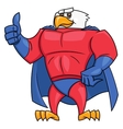 Eagle superhero thumb up gesture 2 vector image