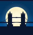 england london silhouette of attraction travel vector image vector image