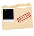 File folder vector image vector image
