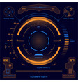 futuristic touch screen user interface hud vector image vector image