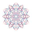 gradient abstract mandala vector image vector image