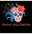 Graphic floral skull Halloween vector image vector image