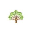 green creative oak tree logo vector image vector image