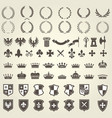heraldry kit knight blazons and coat arms vector image vector image
