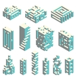 Isometric cubes architecture vector image vector image