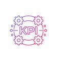 kpi icon on white line design vector image vector image