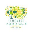 lemonade freshly original design logo natural vector image vector image