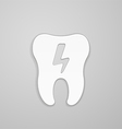 Lightning on white tooth vector image vector image