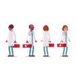 male and female standing doctor vector image