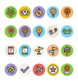 Map and Navigation Icons 4 vector image vector image