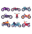 motorbikes classical collection vector image vector image