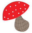 mushroom hand drawn design on white background vector image vector image