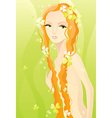 naked girl on green vector image vector image