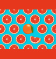 orange fruits slice seamless pattern on blue vector image vector image