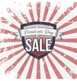 Presidents Day Sale Label and Ribbon with Text vector image vector image