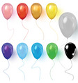 realistic colored balloons on white background