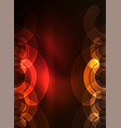 round glowing elements on dark space abstract vector image vector image