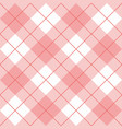 seamless pink and white background - checkered vector image vector image