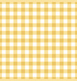 seamless yellow tablecloth texture vector image vector image