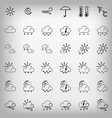 set gray weather icons vector image