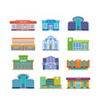 set of modern urban buildings facades and vector image