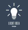silhouette icon lightbulb light idea logo vector image vector image