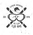 Ski club retro badge
