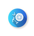 spare parts blue flat design long shadow glyph vector image