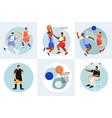 sports flat design concept vector image