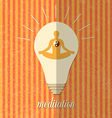 Step to the healthy life - meditation vector image vector image