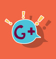 sticker google plus icons on background vector image vector image