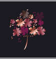 stylized autumn floral tree vector image vector image