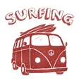 Surf Van t-shirt graphics vector image vector image