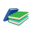 Three colored books icon cartoon style vector image vector image