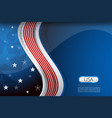 usa wave blue background vector image vector image