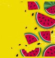watermelon super summer sale banner in paper cut vector image