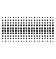 weight shape halftone pattern vector image vector image