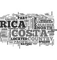 where is costa rica located text word cloud vector image vector image