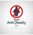 world arthritis day icon vector image vector image