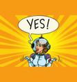 yes winner astronaut woman vector image vector image