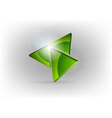 green triangles vector image