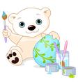 Easter Polar Bear vector image