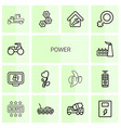 14 power icons vector image vector image