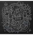 2016 New year doodles elements background vector image