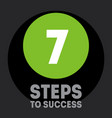 7 steps to success cover for video to be vector image